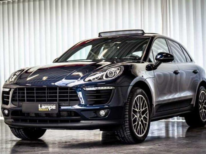Porsche Macan Essence Pano,1ere Main, Toi Pano, 32791Kms Bleu Peinture métallisée - 3