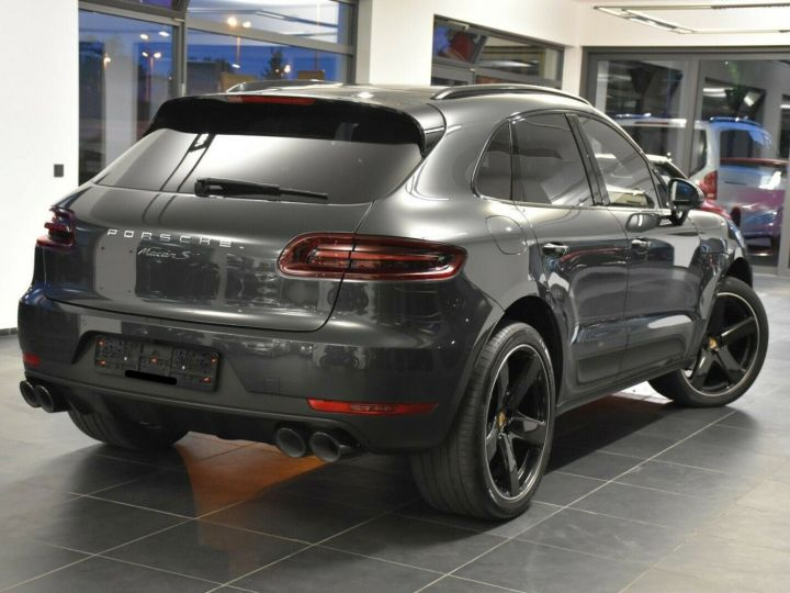 Porsche Macan S 3.0 V6 258 CH - LED-Pack sport chrono Plus -ACC-TOIT PANO -CAMERA 360-21' GRIS VOLCAN - 4