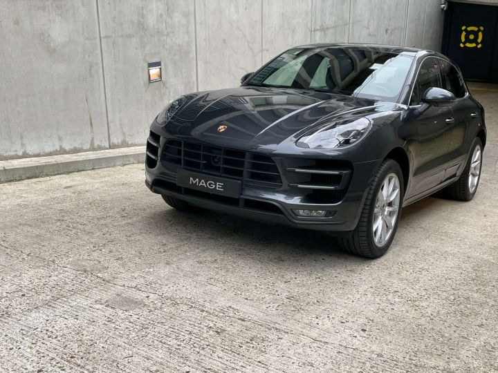 Porsche Macan Turbo 3.6 V6 440 ch Pack Performance PDK Gris Occasion - 3