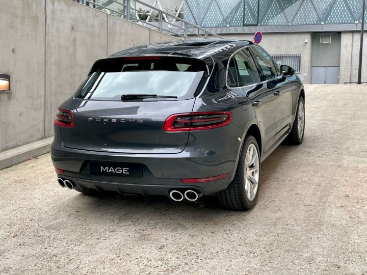Porsche Macan Turbo 3.6 V6 440 ch Pack Performance PDK Gris Occasion - 5