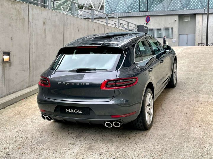 Porsche Macan Turbo 3.6 V6 440 ch Pack Performance PDK Gris Occasion - 7