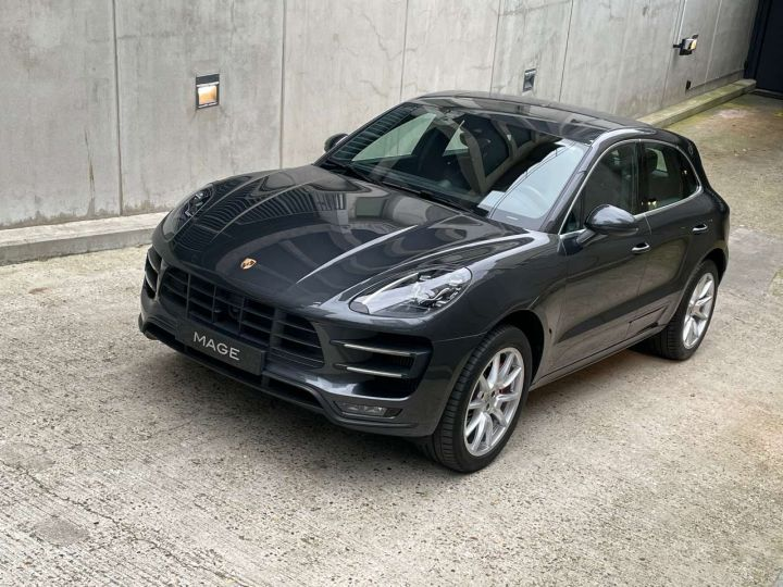 Porsche Macan Turbo 3.6 V6 440 ch Pack Performance PDK Gris Occasion - 11