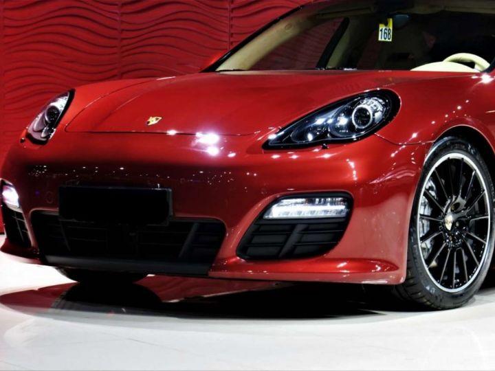 Porsche Panamera I (970) S PDK 4.8 V8 400cv *Cuir beige - Pack Sport - Toit Pano* Livraison et garantie 12 mois Rouge rubis - 6