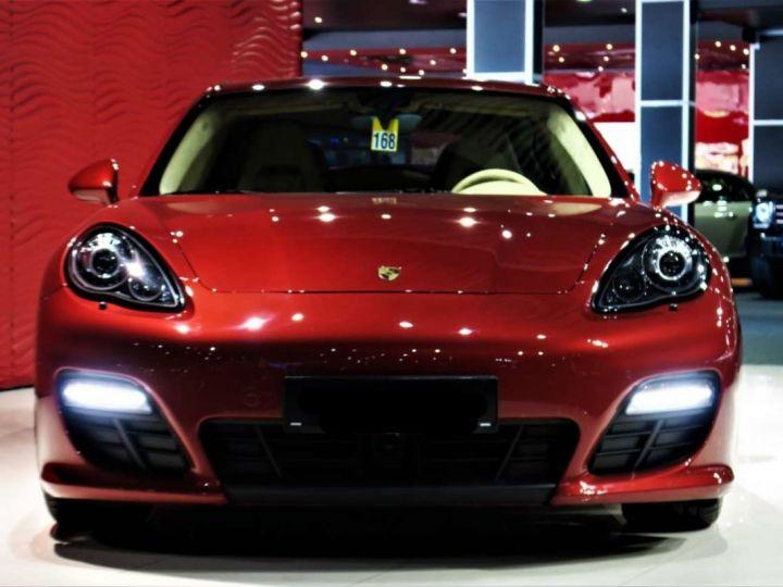 Porsche Panamera I (970) S PDK 4.8 V8 400cv *Cuir beige - Pack Sport - Toit Pano* Livraison et garantie 12 mois Rouge rubis - 9