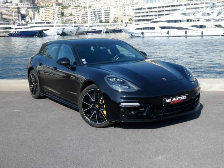 Porsche Panamera TURBO S E-HYBRID SPORT TURISMO Noir Intense Métal Occasion - 7