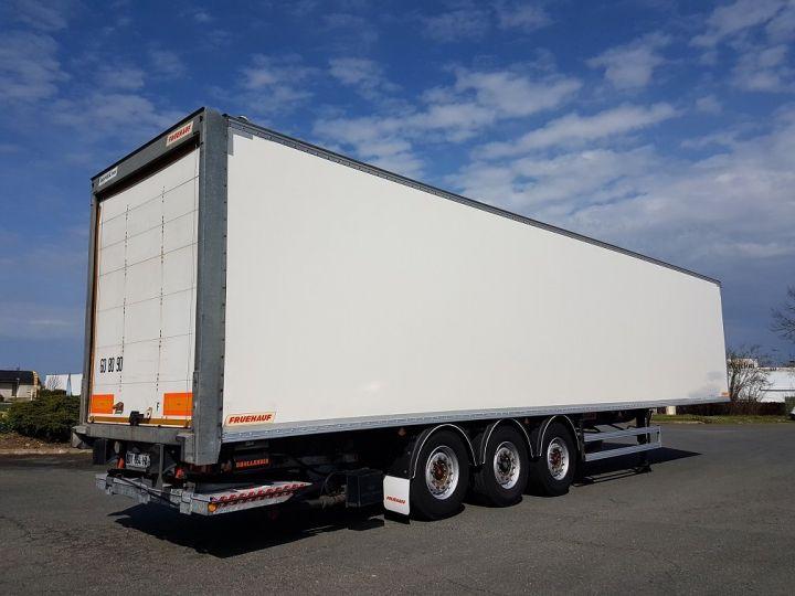 Remolque Fruehauf Caja cerrada + Plataforma elevadora Fourgon + hayon 2500 kg BLANC - 2