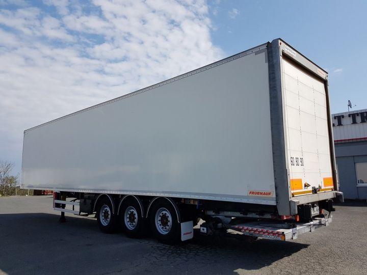 Remolque Fruehauf Caja cerrada + Plataforma elevadora Fourgon + hayon 2500 kg BLANC - 4