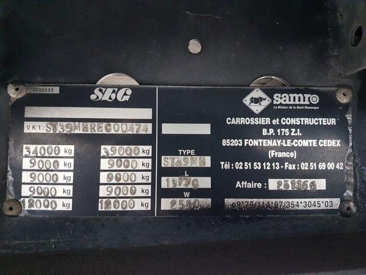 Remolque Samro Caja cerrada + Plataforma elevadora Fourgon 90m3 + hayon 2500 kg NOIR - 21
