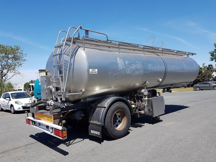 Remolque ETA Cisterna alimentaria Citerne inox 21000 litres 3 cpts GRIS - 2