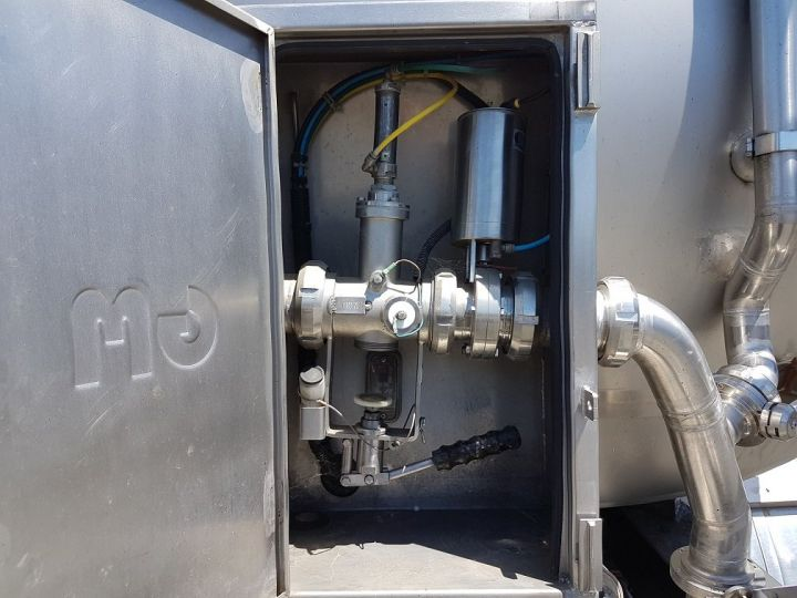 Remolque ETA Cisterna alimentaria Citerne inox 21000 litres 3 cpts GRIS - 11