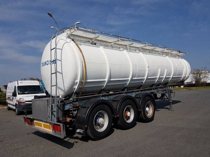 Remolque Indox Cisterna hydrocarburos Citerne acier 28000 litres BLANC - GRIS - 2