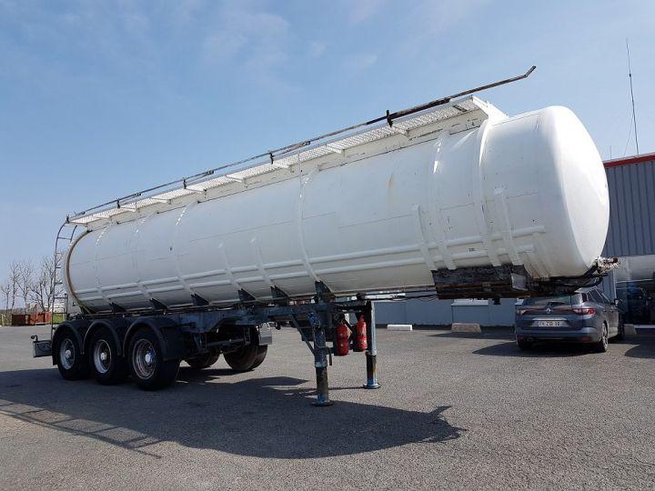 Remolque Indox Cisterna hydrocarburos Citerne acier 28000 litres BLANC - GRIS - 3