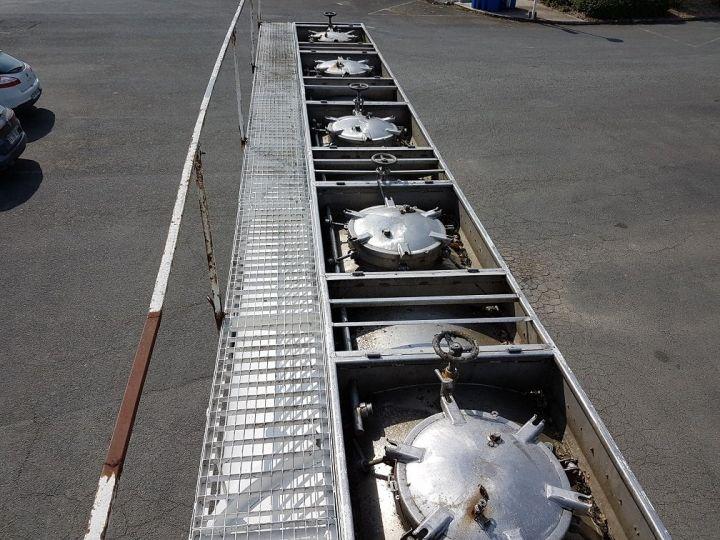 Remolque Indox Cisterna hydrocarburos Citerne acier 28000 litres BLANC - GRIS - 12
