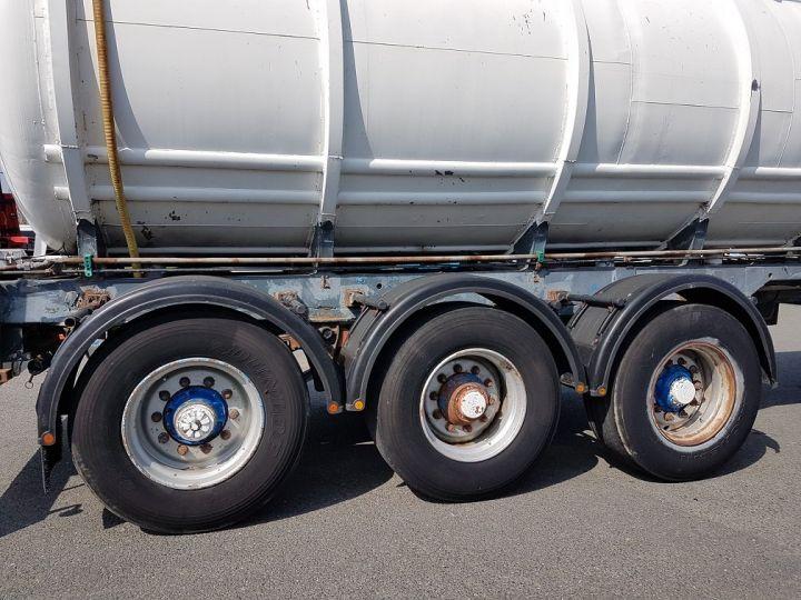 Remolque Indox Cisterna hydrocarburos Citerne acier 28000 litres BLANC - GRIS - 18