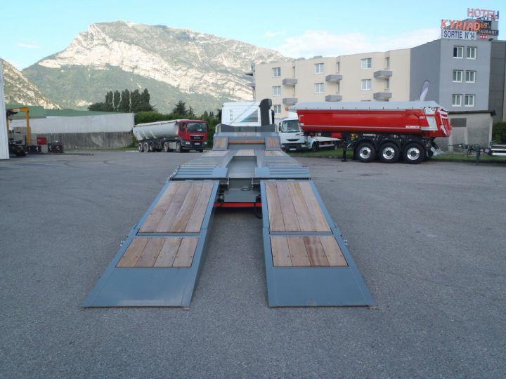 Remolque AMC Castera Gondola lleva maquinas porte-engins 3 essieux  - 7
