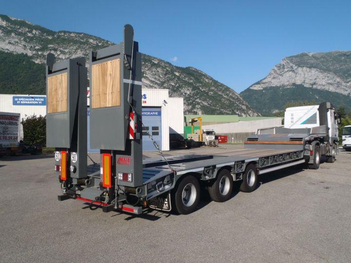 Remolque AMC Castera Gondola lleva maquinas Semi porte-engins 3E NEUVE et DISPO GRIS RAL 7012 - 1