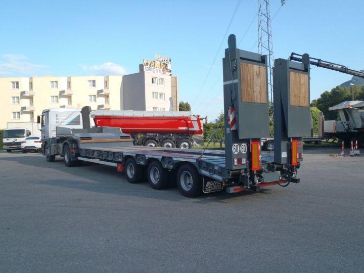 Remolque AMC Castera Gondola lleva maquinas Semi porte-engins 3E NEUVE et DISPO GRIS RAL 7012 - 2