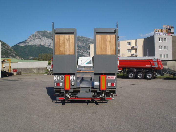 Remolque AMC Castera Gondola lleva maquinas Semi porte-engins 3E NEUVE et DISPO GRIS RAL 7012 - 3