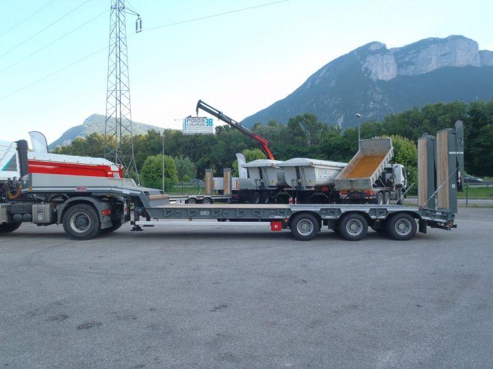 Remolque AMC Castera Gondola lleva maquinas Semi porte-engins 3E NEUVE et DISPO GRIS RAL 7012 - 4