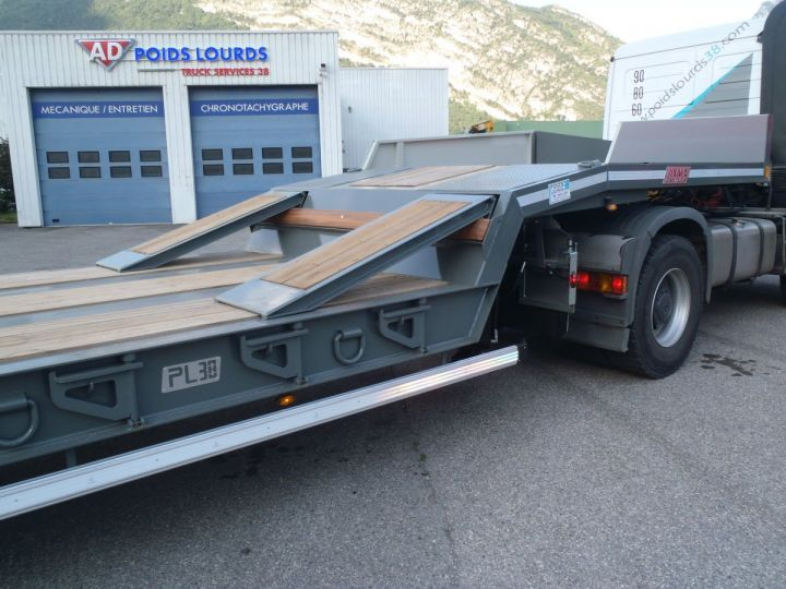Remolque AMC Castera Gondola lleva maquinas Semi porte-engins 3E NEUVE et DISPO GRIS RAL 7012 - 6