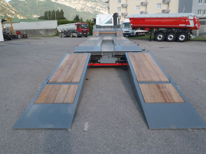 Remolque AMC Castera Gondola lleva maquinas Semi porte-engins 3E NEUVE et DISPO GRIS RAL 7012 - 7