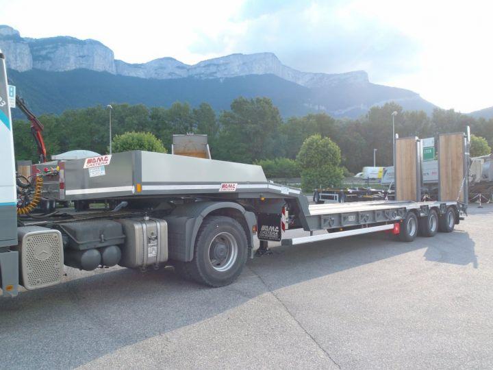 Remolque AMC Castera Gondola lleva maquinas Semi porte-engins 3E NEUVE et DISPO GRIS RAL 7012 - 9