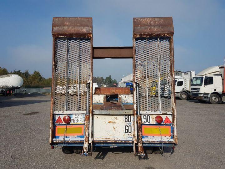 Remolque Samro Gondola lleva maquinas PORTE-ENGINS 2 essieux BLANC - BLEU - 6