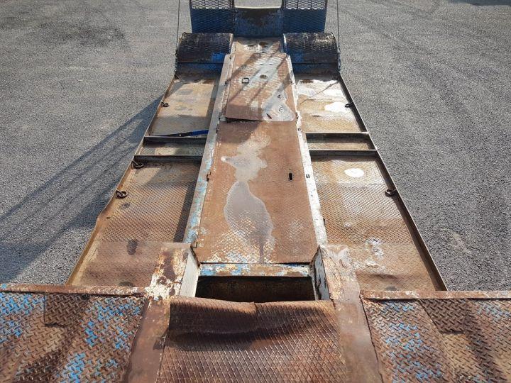 Remolque Samro Gondola lleva maquinas PORTE-ENGINS 2 essieux BLANC - BLEU - 9
