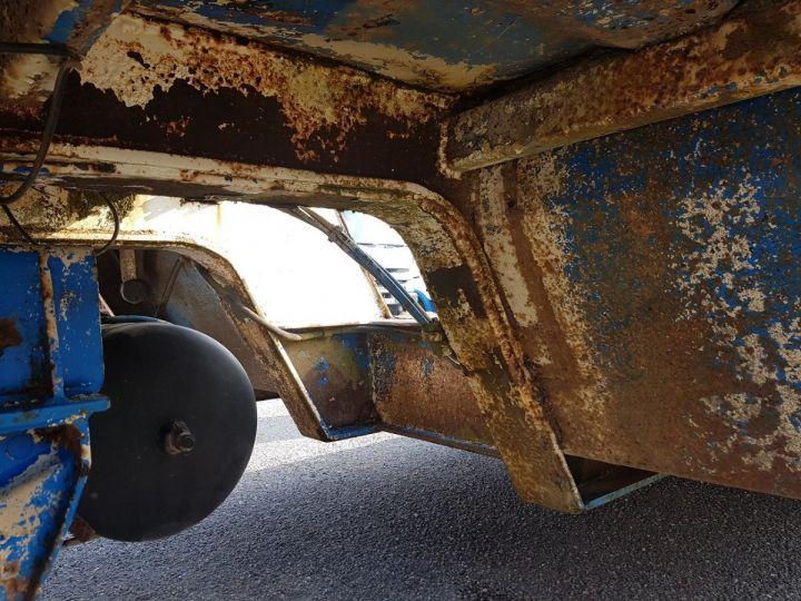 Remolque Samro Gondola lleva maquinas PORTE-ENGINS 2 essieux BLANC - BLEU - 15