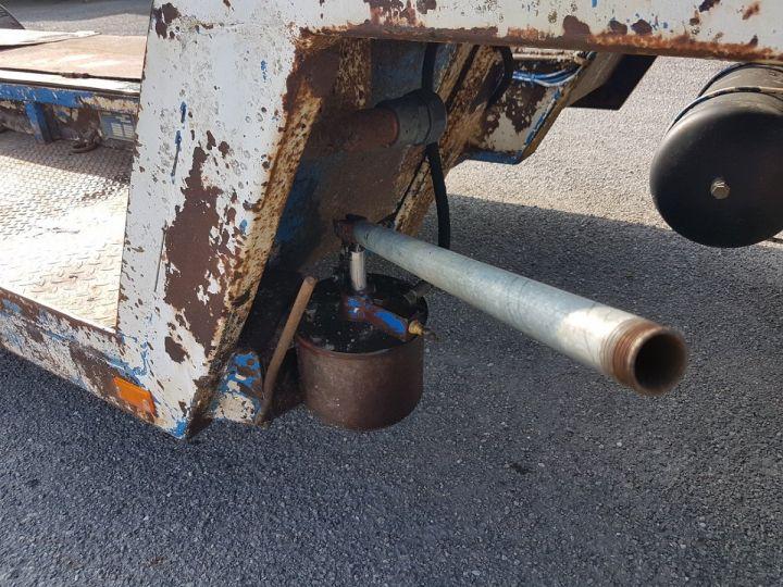 Remolque Samro Gondola lleva maquinas PORTE-ENGINS 2 essieux BLANC - BLEU - 19