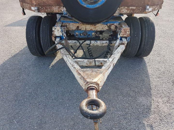 Remolque Samro Gondola lleva maquinas PORTE-ENGINS 2 essieux BLANC - BLEU - 20