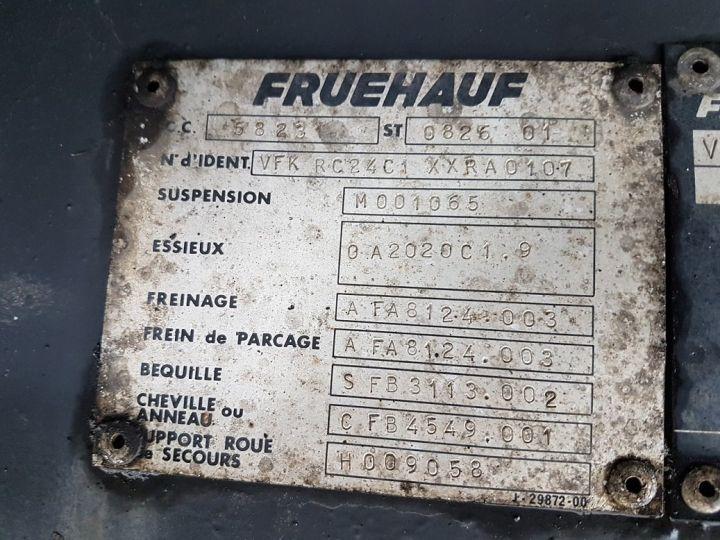 Remolque Fruehauf Tauliner P.L.S.C. RIDELLES - 3 essieux BLANC - NOIR - GRIS - 21
