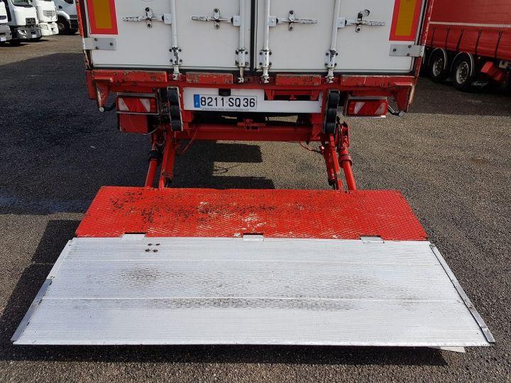 Remolque Fruehauf TX 34 Tauliner P.L.S.C. à ridelles + HAYON BLANC ET ROUGE - 9