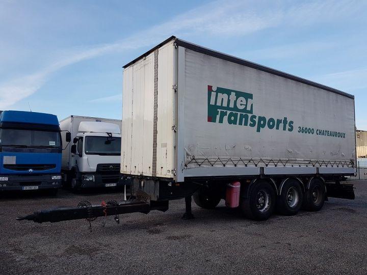 Remolque Samro Tauliner Remorque 3 essieux P.L.S.C. à ridelles 8m20 BLANC - GRIS - NOIR - 1