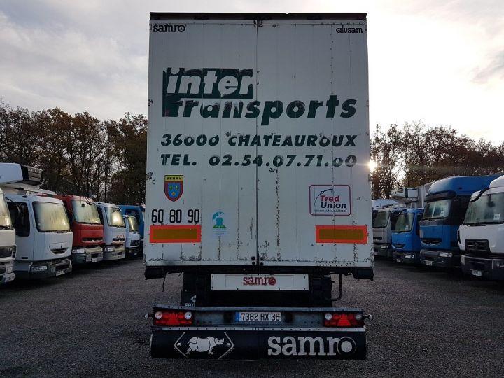 Remolque Samro Tauliner Remorque 3 essieux P.L.S.C. à ridelles 8m20 BLANC - GRIS - NOIR - 5