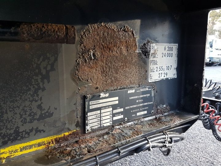 Remolque Samro Tauliner Remorque 3 essieux P.L.S.C. à ridelles 8m20 BLANC - GRIS - NOIR - 17