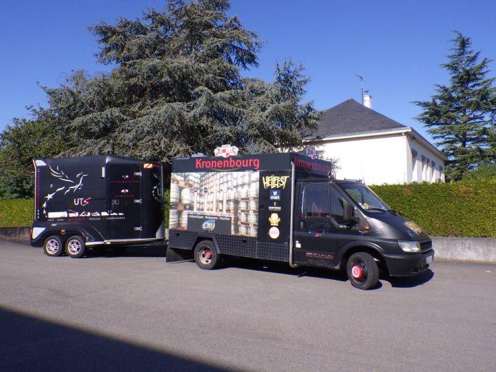 Remolque Transporte de caballos Noir - 4