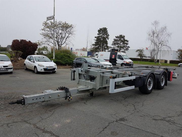 Remolque Fruehauf Transporte de contenedores Remorque 2 essieux PORTE-CAISSE MOBILE GRIS - 1
