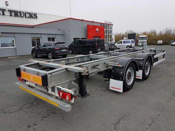 Remolque Fruehauf Transporte de contenedores Remorque 2 essieux PORTE-CAISSE MOBILE GRIS - 2