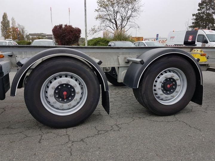 Remolque Fruehauf Transporte de contenedores Remorque 2 essieux PORTE-CAISSE MOBILE GRIS - 14
