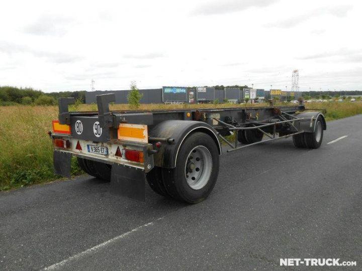 Remolque Pomiers Transporte de contenedores PORTE-BENNE AMOVIBLE 7m. GRIS - 2