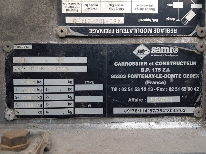 Remolque Samro Transporte de contenedores PORTE-CAISSE MOBILE 7m82 GRIS - 17