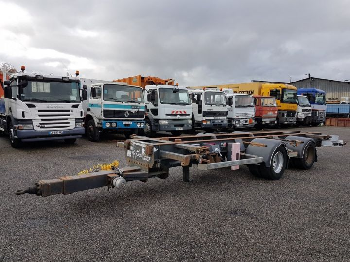 Remolque Samro Transporte de contenedores Remorque 2 essieux PORTE-CAISSE MOBILE NOIR - 1