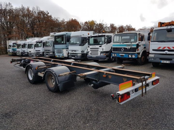 Remolque Samro Transporte de contenedores Remorque 2 essieux PORTE-CAISSE MOBILE NOIR - 4