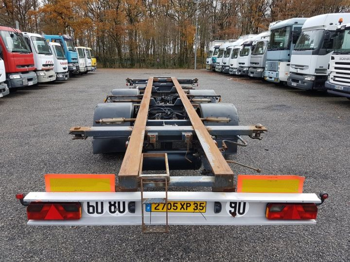 Remolque Samro Transporte de contenedores Remorque 2 essieux PORTE-CAISSE MOBILE NOIR - 5
