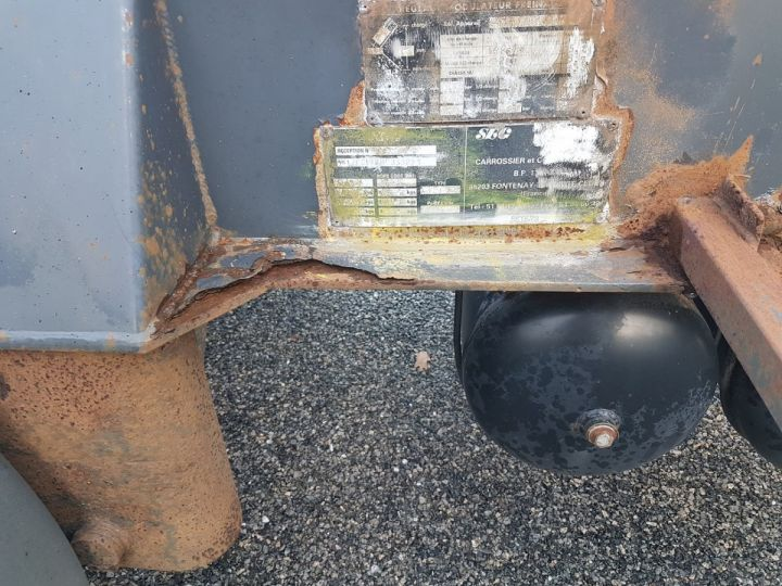 Remolque Samro Transporte de contenedores Remorque 2 essieux PORTE-CAISSE MOBILE NOIR - 12