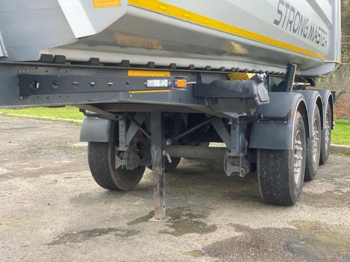 Remorque Benne arrière 3 ESSIEUX ALUMINIUM DEMI RONDE  GRIS - 4