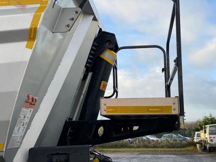 Remorque Benne arrière 3 ESSIEUX ALUMINIUM DEMI RONDE  GRIS - 15