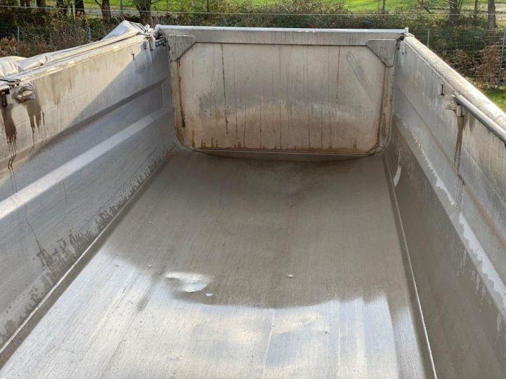 Remorque Benne arrière 3 ESSIEUX ALUMINIUM DEMI RONDE  GRIS - 19