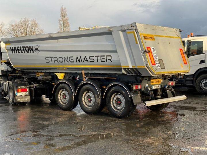 Remorque Wielton Benne arrière ALU DEMI RONDE STRONG MASTER 3 ESSIEUX GRIS - 11